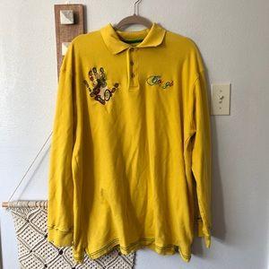 COOGI Men's Yellow Pullover Polo Shirt